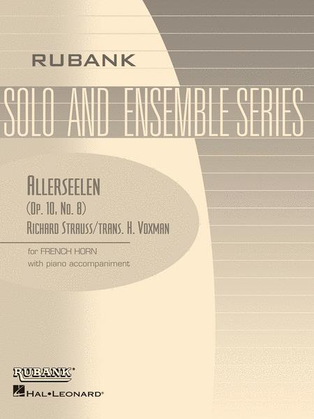 Allerseelen (Op. 10 No. 8) - French Horn (In F) Solos With Piano