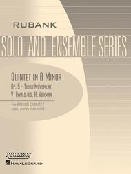 Quintet in B Minor, Op. 5 - Third Movement
