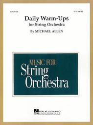 daily warm ups for string orchestra score only