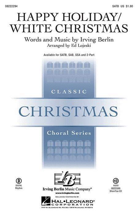 Happy Holiday/White Christmas - ShowTrax CD