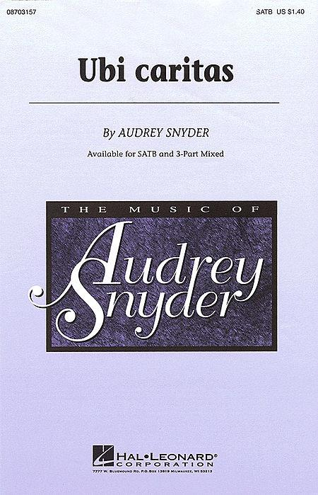 Ubi Caritas Sheet Music By Audrey Snyder Sheet Music Plus