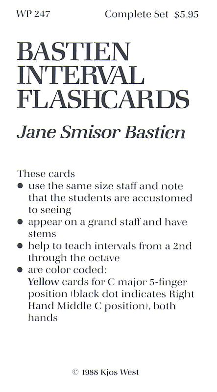 Bastien Interval Flashcards