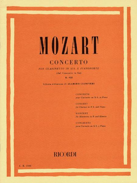 Clarinet Concerto In Bb, K. 622 - Clarinet/Piano