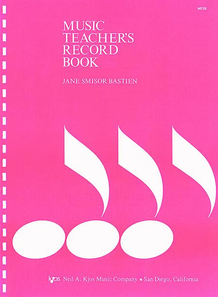 music teachers record book sheet music by jane smisor bastien