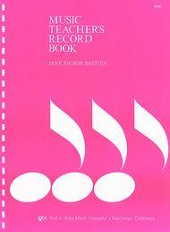 Music Teachers Record Book