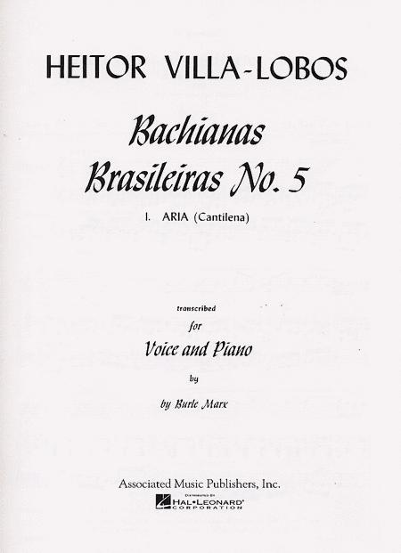 Aria From 'Bachianas Brasileiras Cantilena No. 5'