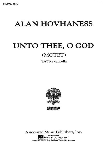 Unto Thee O God Motet A Cappella