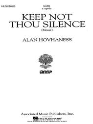 Keep Not Thou Silence Motet A Cappella
