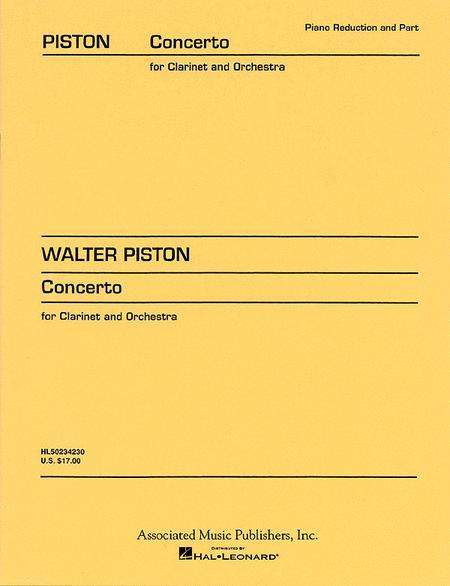Clarinet Concerto (1967) - Clarinet/Piano