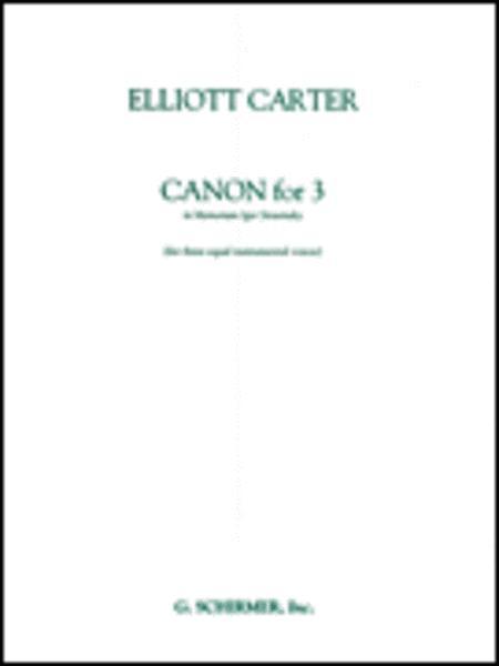 Canon for 3 - In Memoriam of Igor Stravinsky