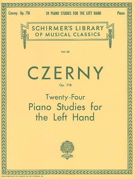 24 Studies for the Left Hand, Op. 718