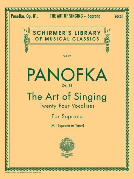 Art of Singing (24 Vocalises), Op.81