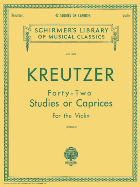 42 Studies Or Caprices - Violin