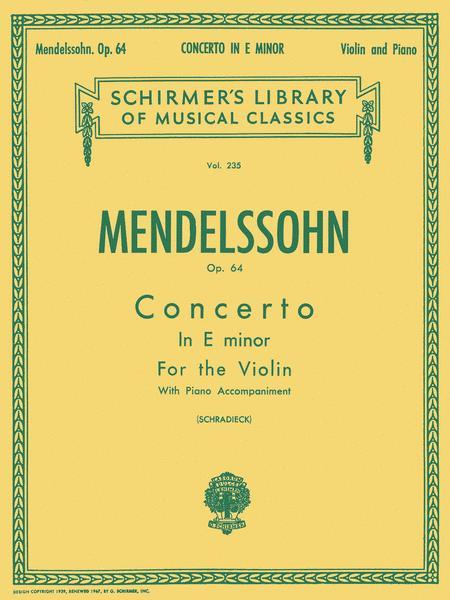 Concerto In E Minor For Violin, Opus 64