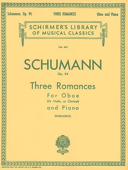 Three Romances, Op. 94 - Oboe/Violin/Clarinet