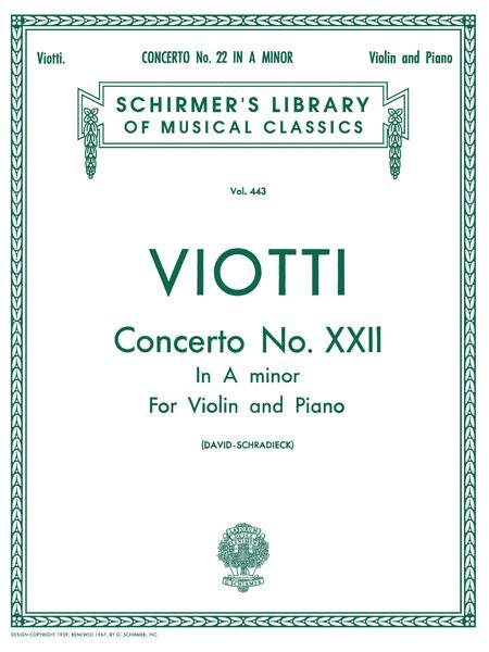 Violin Concerto No. 22 In A Minor - Violin/Piano