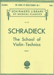 School Of Violin Technics - Book 1 For Violin Sheet Music By