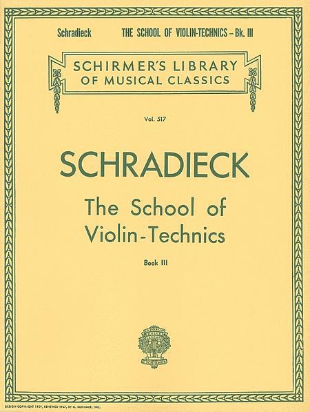 School of Violin Technics - Book 3