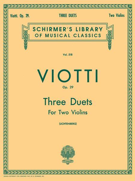 3 Duets, Op. 29