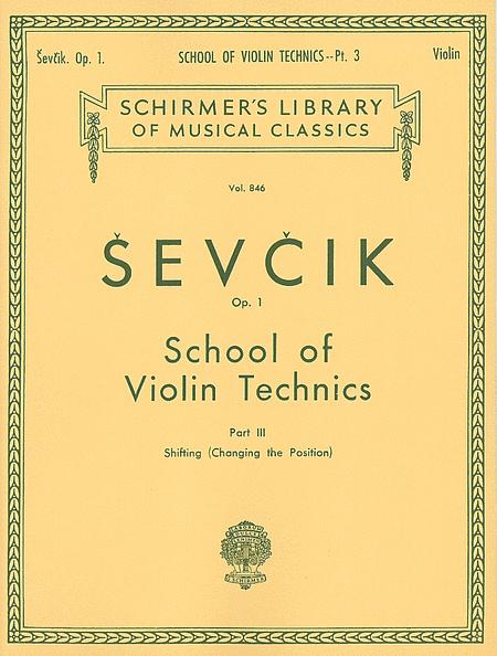 School of Violin Technics, Op. 1 - Book 3
