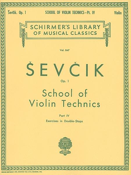 School of Violin Technics, Op. 1 - Book 4