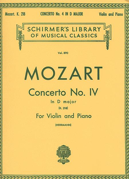 Concerto No. 4 In D Major, K. 218