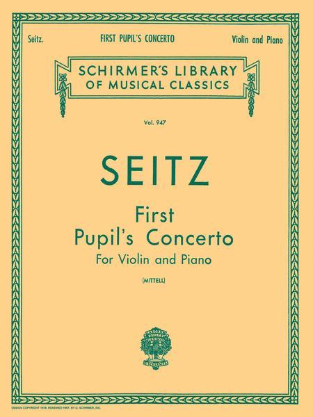 Pupil's Concerto No. 1 In D - Violin/Piano