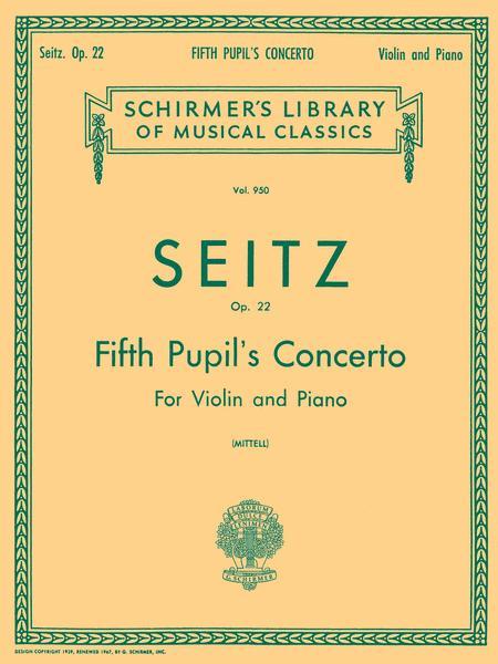 Pupil's Concerto No. 5 In D, Op. 22 - Violin/Piano