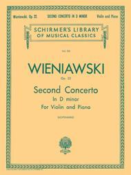 Second Violin Concerto In D Minor, Op. 22 - Violin/Piano