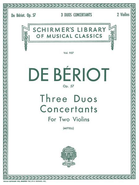 3 Duos Concertante, Op. 57