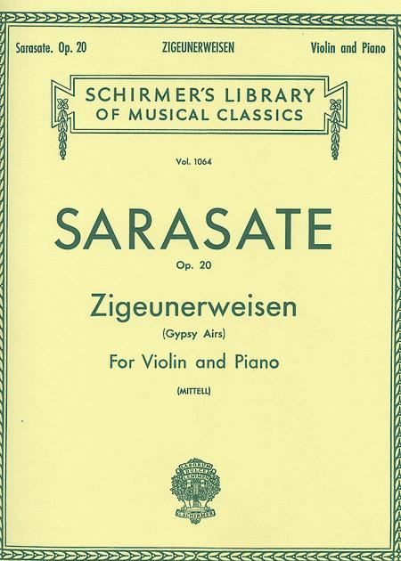 Zigeunerweisen - 'Gypsy Aire', Op. 20 - Violin/Piano