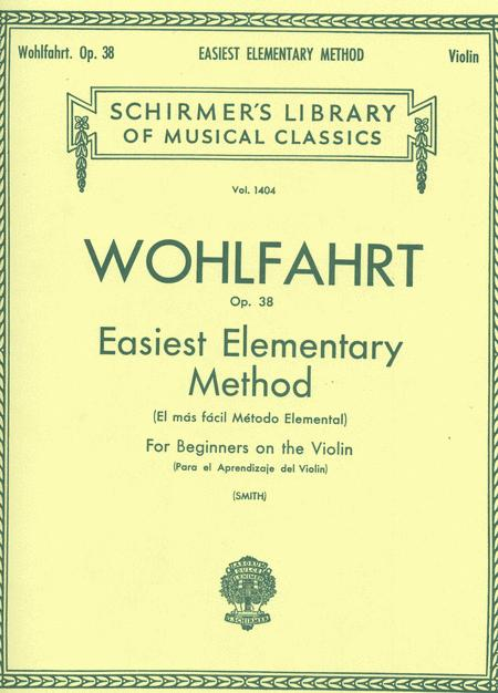 Easiest Elementary Method For Beginners, Op. 38 - Violin