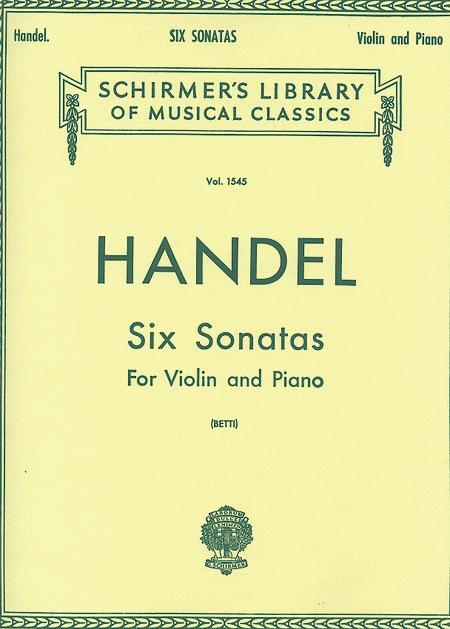 Six Sonatas - Piano / Violin