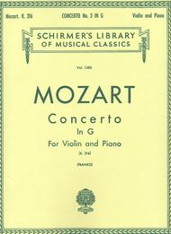 Concerto No. 3 In G, K. 216