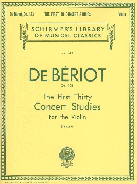 First 30 Concert Studies, Op. 123