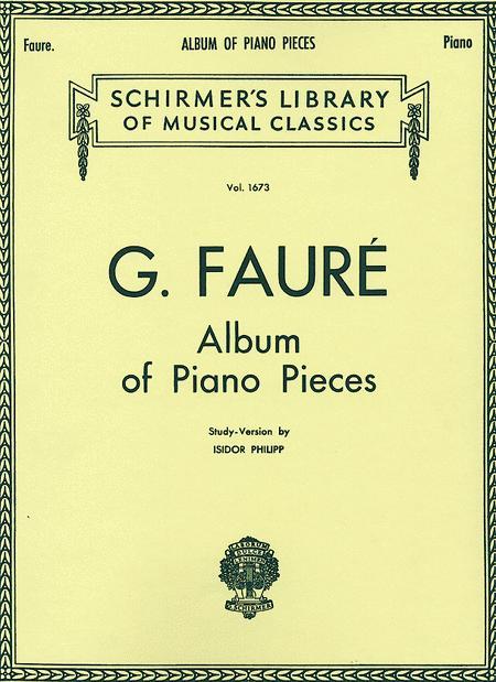 Album Of Piano Pieces