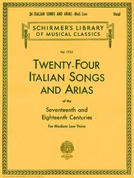 24 Italian Songs & Arias Of The 17th & 18th Centuries - Medium Low Voice - Book Only