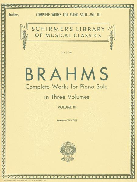 Complete Works for Piano Solo - Volume 3