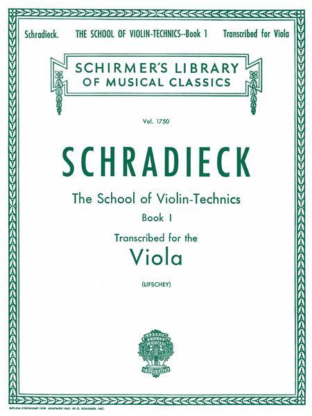 School of Violin Technics, Op. 1 - Book 1