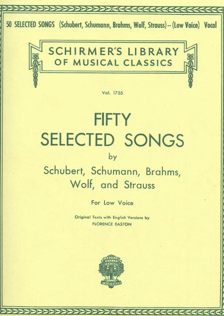 50 Selected Songs - Low Voice