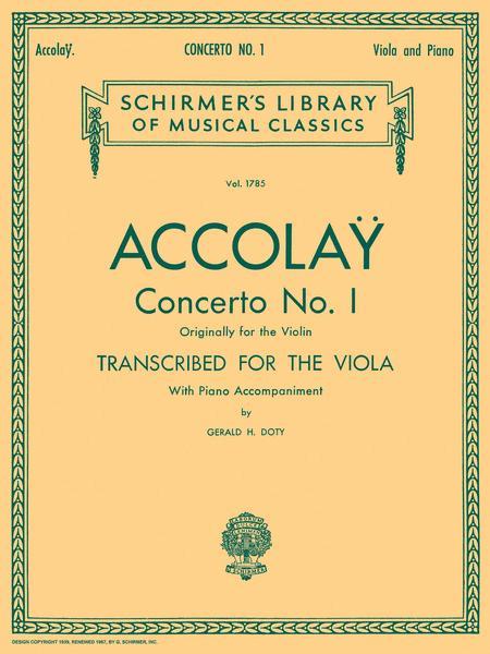 Concerto No. 1 - Viola/Piano