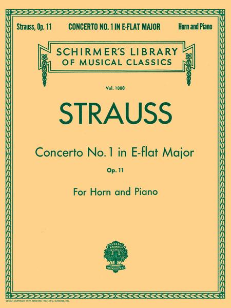 Concerto No. 1 In E Flat Major, Op. 11