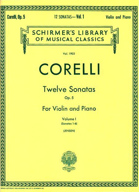 Twelve Sonatas, Op. 5 - Volume 1