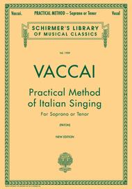 Practical Method Of Italian Singing - For Soprano Or Tenor