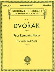 Four Romantic Pieces For Violin And Piano, Op. 75