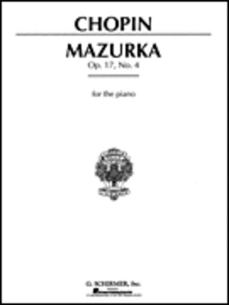 Mazurka, Op. 17, No. 4 in A Minor