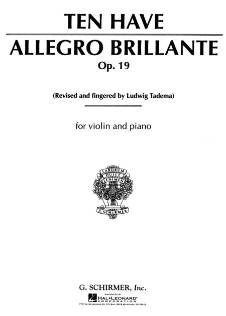 Allegro Brillante, Op. 19