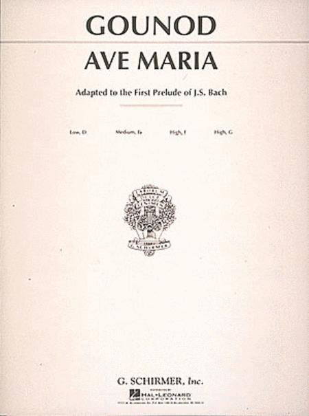 Ave Maria - Medium High Voice In F