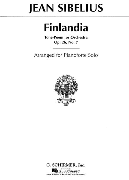 Finlandia Op 26 No 7 By Jean Sibelius 1865 1957 Sheet Music For Piano Buy Print Music Hl 50276800 Sheet Music Plus