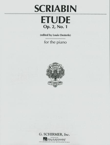Etude In C# Minor, Op. 2, No. 1 - Piano Solo